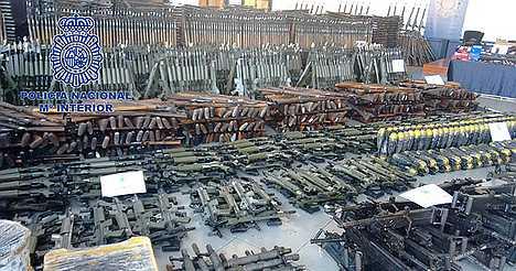 Hugh illegal firearms depot seized in Spaiin