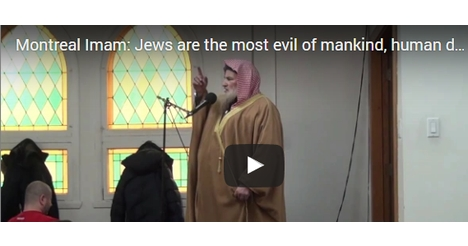 Imam Preaches to Kill Jews in Canada