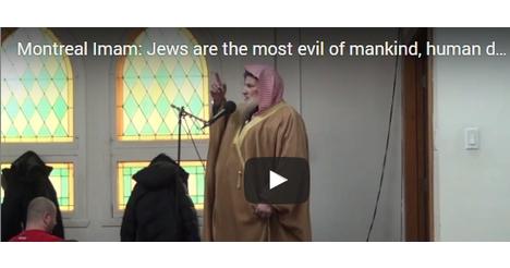 Imam Preaches to Kill Jews in Canada