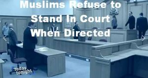Muslim Refuse to Stand in Court