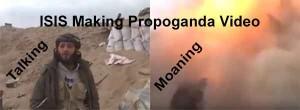 ISIS Making Propoganda Video, Then Rocket Hits